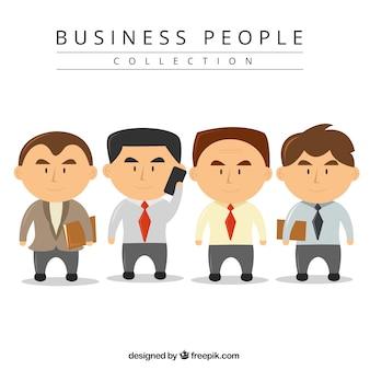 Collection d'hommes d'affaires avec de grosses têtes