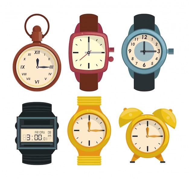 Collection d'horloges et de montres-bracelets