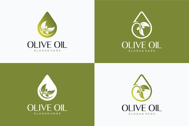 Collection d'huile d'olive, inspiration de conception de logo