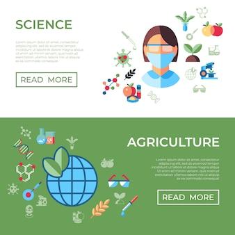 Collection d'icônes de biotechnologie