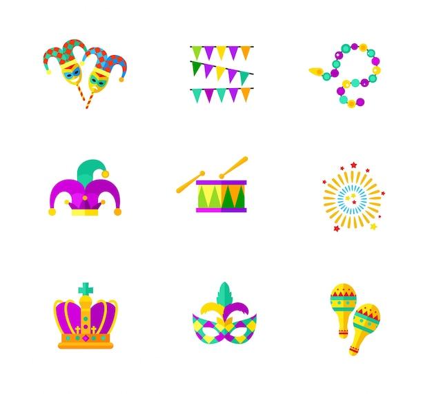 Collection d'icônes de carnaval