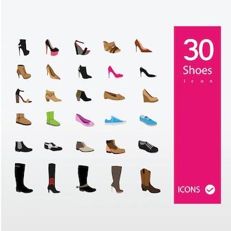 Collection d'icônes de chaussures