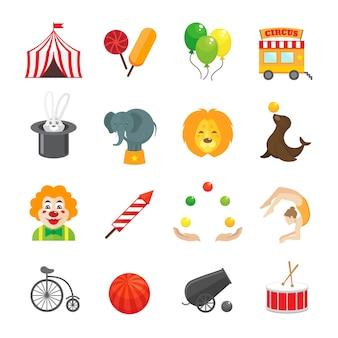 Collection d'icônes de cirque