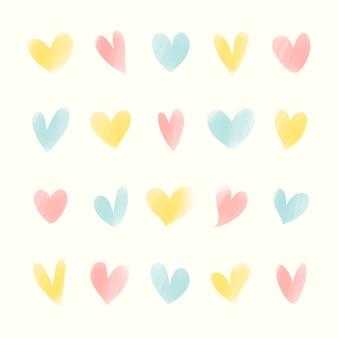 Collection d'icônes de coeur illustrés