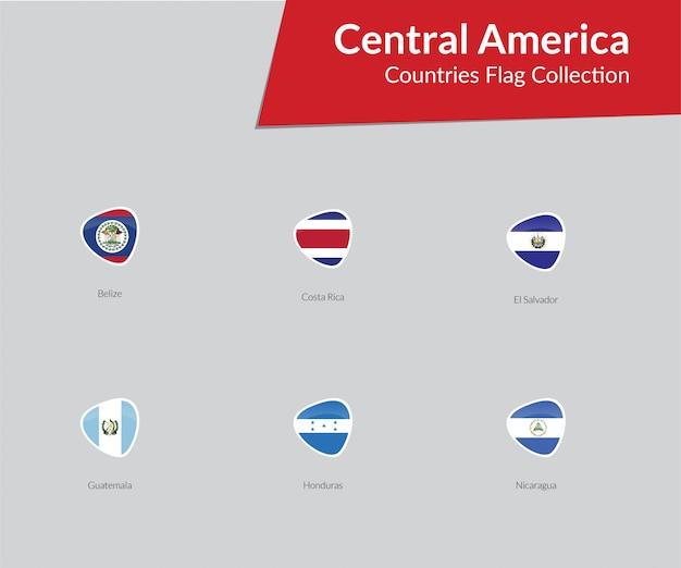 Collection d'icônes de drapeaux d'amérique centrale