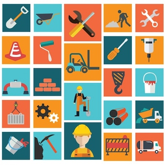 Collection d'icônes du bâtiment