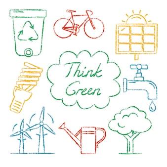 Collection d'icônes d'écologie