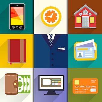 Collection d'icônes entrepreneur