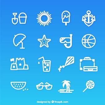 Collection d'icônes d'été