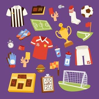 Collection d & # 39; icônes de football