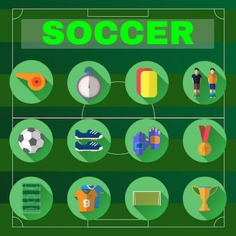 Collection d'icônes de football