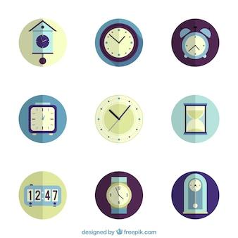 Collection d'icônes d'horloge