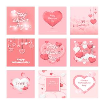 Collection d'icônes icône saint valentin
