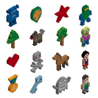 Collection d'icônes isométriques