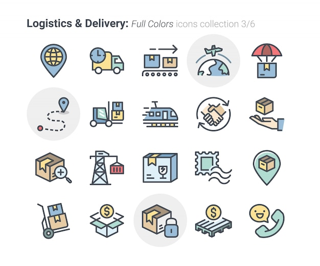 Collection d'icônes de logistique et de livraison