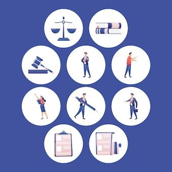 Collection d'icônes de loi
