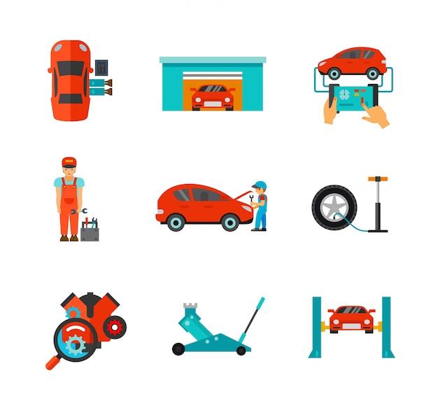 Collection d'icônes mécaniques