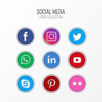 Collection d'icônes de médias sociaux