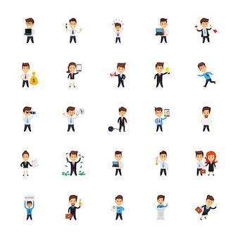 Collection d'icônes de personnages d'entreprise