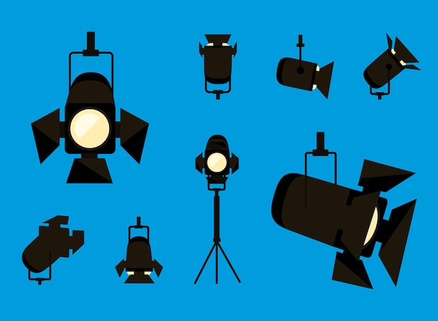 Collection d'icônes de projecteurs