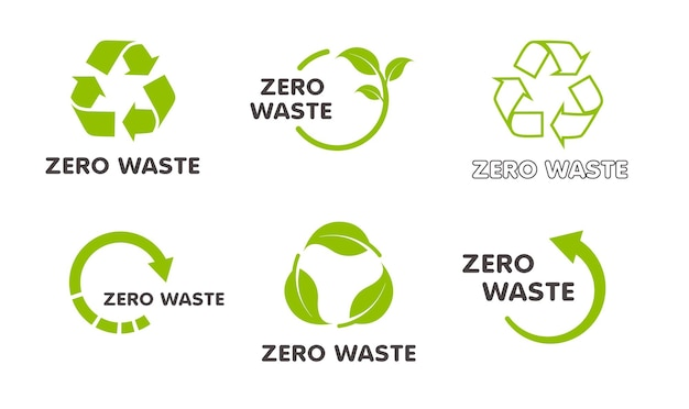 Collection d'icônes de recyclage ensemble de vecteurs de flèches de cercle vert isolé sur fond blanc