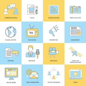 Collection d'icônes de réseau