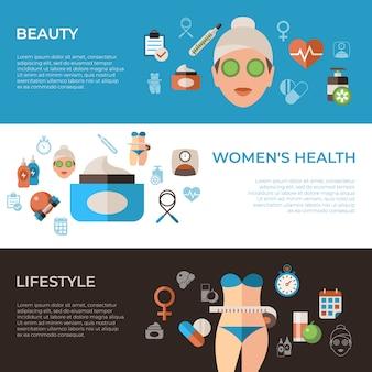 Collection d'icônes de santé femme