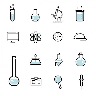 Collection d'icônes scientifiques