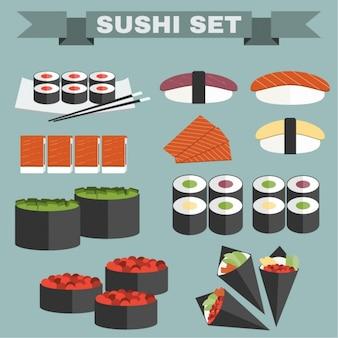 Collection d'icônes de sushi