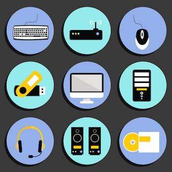 Collection d'icônes de la technologie