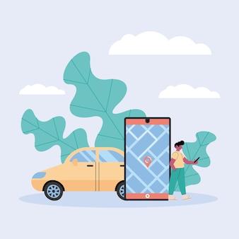 Collection d'icônes de véhicules de location