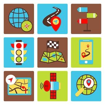 Collection d'icônes voyage
