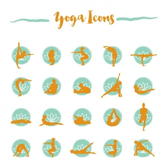 Collection d'icônes de yoga