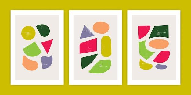Collection d'illustration d'affiche de forme abstraite