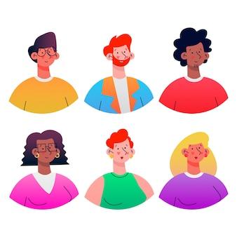 Collection d'illustration d'avatars de personnes