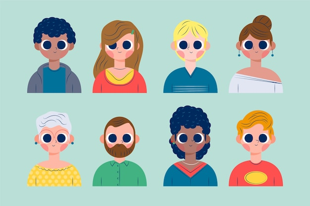 Collection d'illustration d'avatars de personnes
