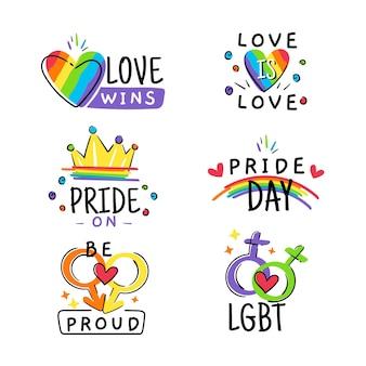 Collection d'illustration de badges de fierté