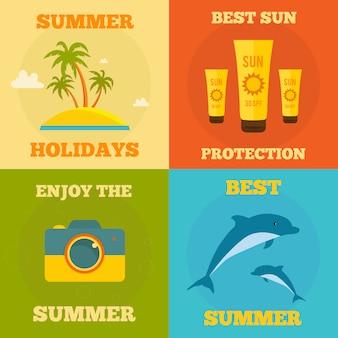 Collection d'illustration d'été