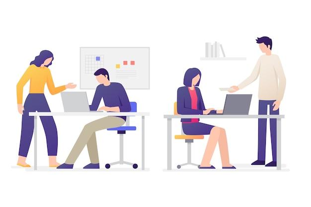 Collection d'illustration de gens d'affaires
