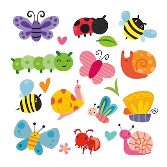 Collection d'illustration d'insectes