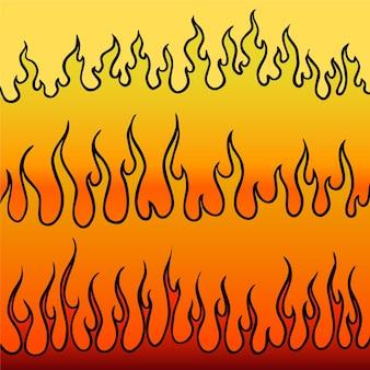 Collection d'illustration vectorielle de flammes