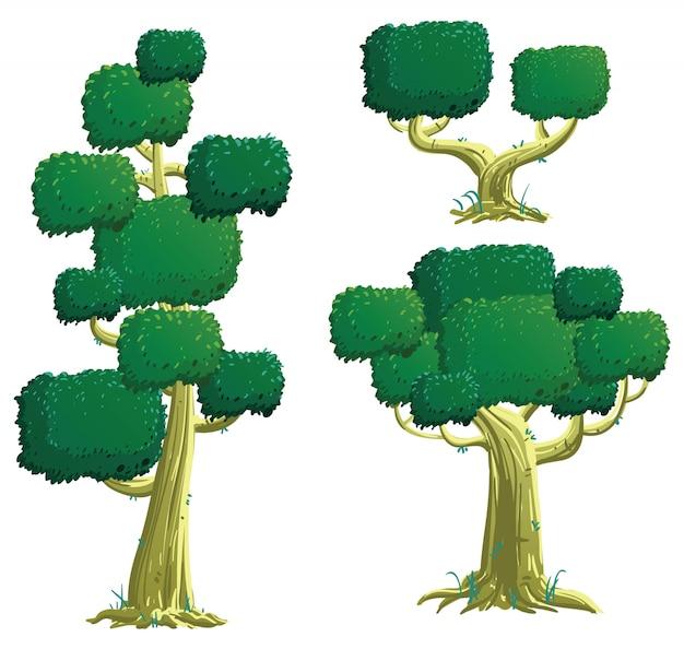 Collection d'illustrations d'arbres