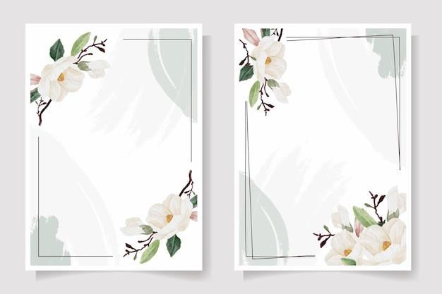 Collection d'illustrations de cartes d'invitation de mariage