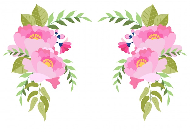 Collection d'illustrations florales aquarelle