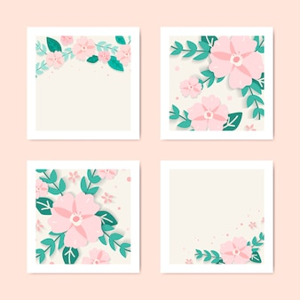 Collection d'illustrations florales de printemps