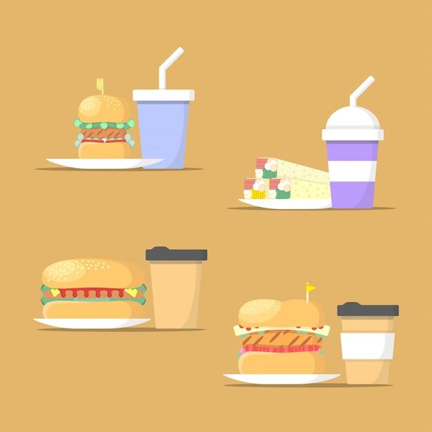Collection d'illustrations de restauration rapide