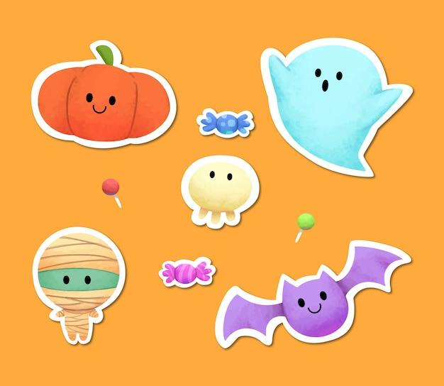 Collection d'illustrations sur le thème d'halloween