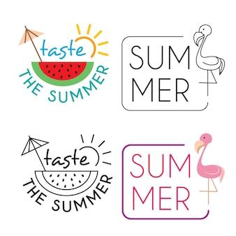 Collection d'illustrations de vacances d'été