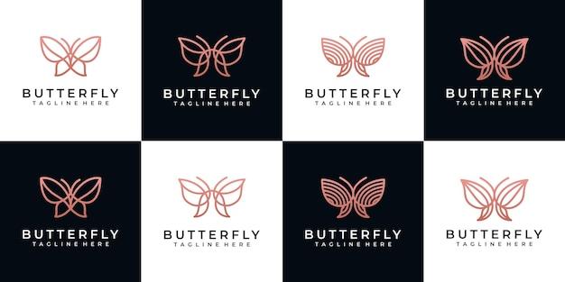 Collection impressionnante de logo de papillon,