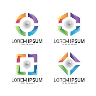 Collection impressionnante de logos d'objectifs d'appareil photo